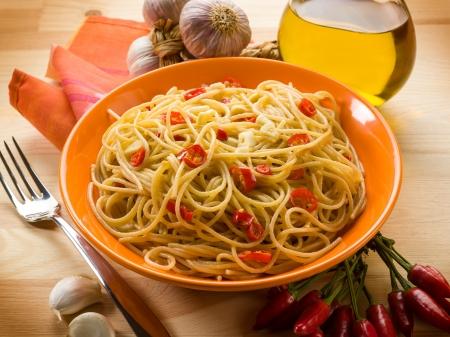 21633206 - spaghetti with garlic oil and hot chili pepper